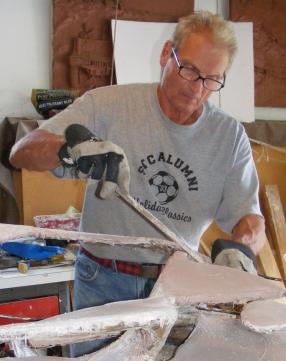 Sculpting fiberglass